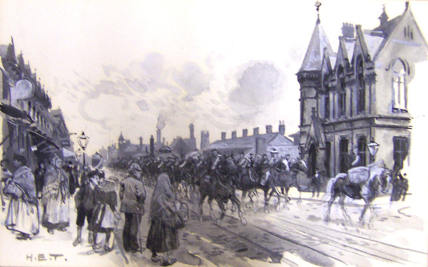 Salford Infantry Barracks and Free Library, Regent's Road
