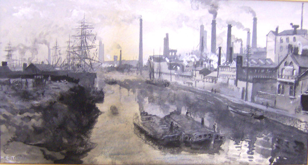 The Irwell at Ordsall, Worrall's Dye Works