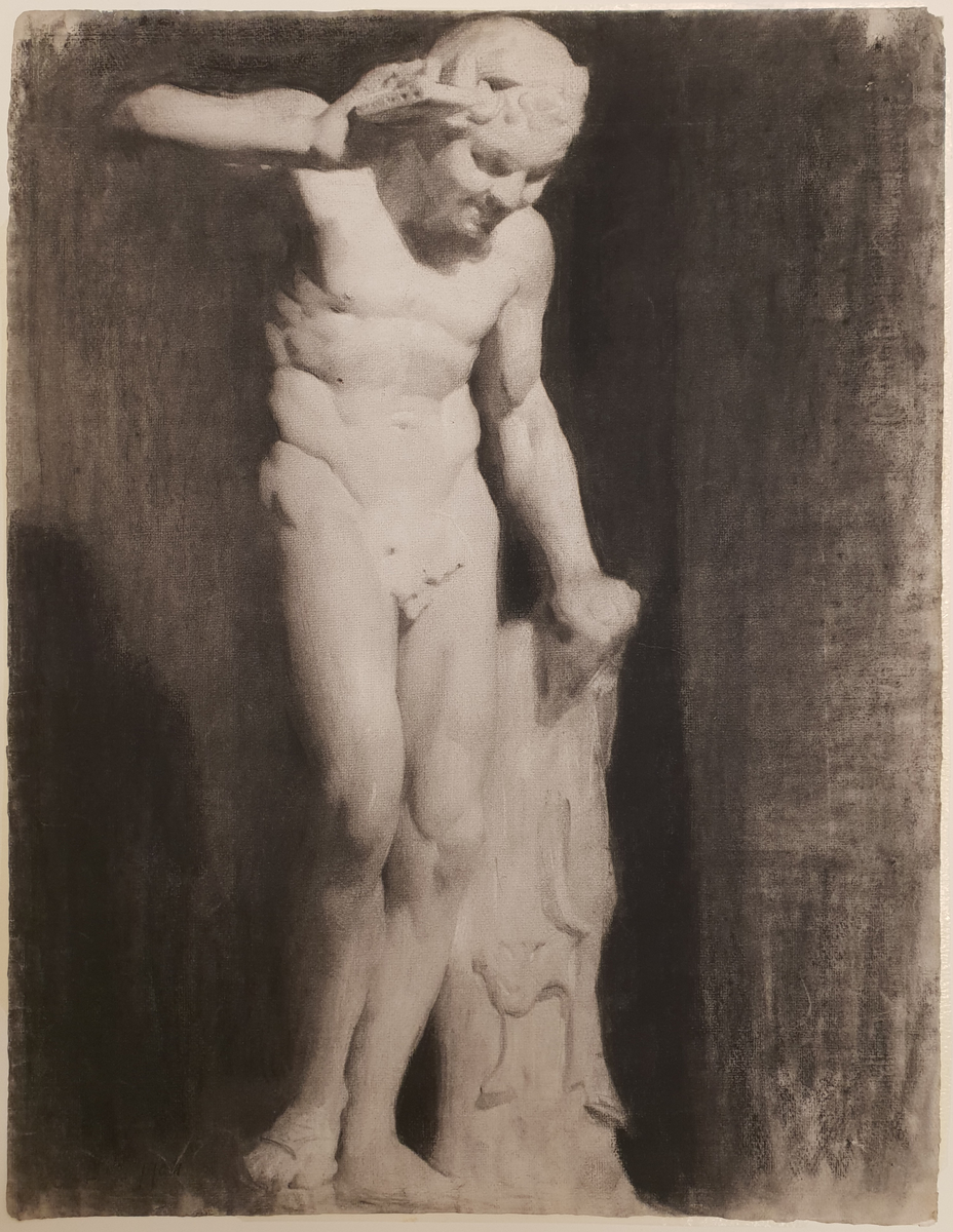 Drawing from the Antique: Cast of a faun