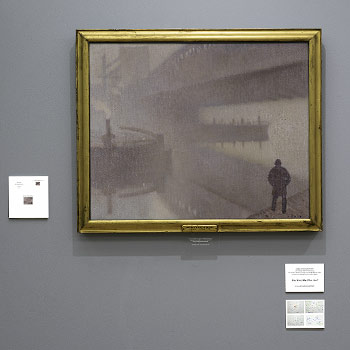 Screenshot of the Image to Text resource displayed on the wall at Manchester art gallery for self guided groups to access