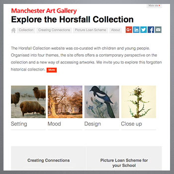 Screenshot of Horsfall loans microsite