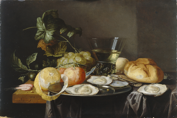 Jan Davidsz. de Heem Still Life: Fruit and Oysters on a Table