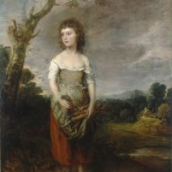 Thomas Gainsborough, A Peasant Girl Gathering Faggots in a Wood