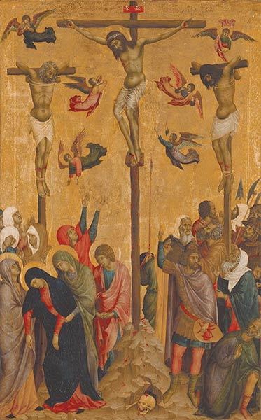 Buoninsegna d. Duccio (school of), The Crucifixion, 1315-1330