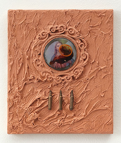 Derek Jarman, 1990, Flesh Tint, Oil and mixed media on canvas, Courtesy Amanda Wilkinson Gallery