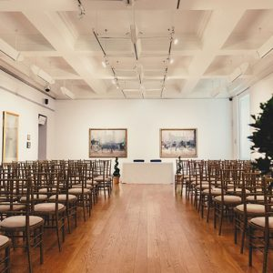 Valette Gallery set out ready for a wedding