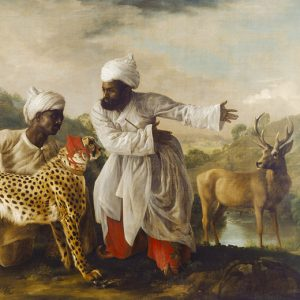 Cheetah and Stag with Two Indians, George Stubbs