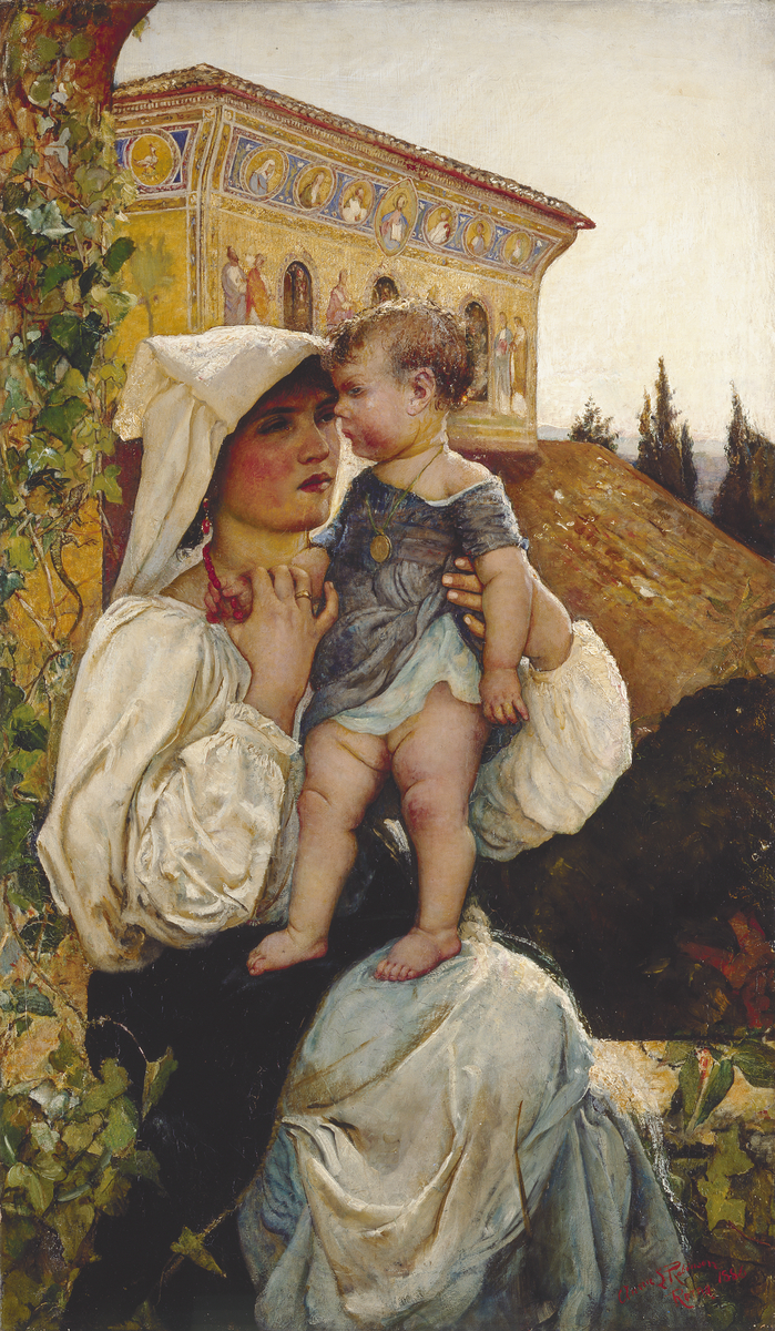 Annie Louisa Swynnerton, An Italian Mother and Child, 1886