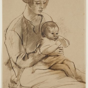 Bernard Meninsky, Mother and Child , 1918