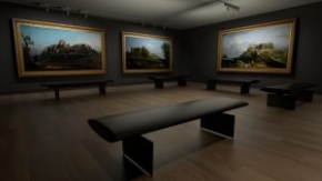 4k render of proposed Bellotto exhibition in Gallery 15